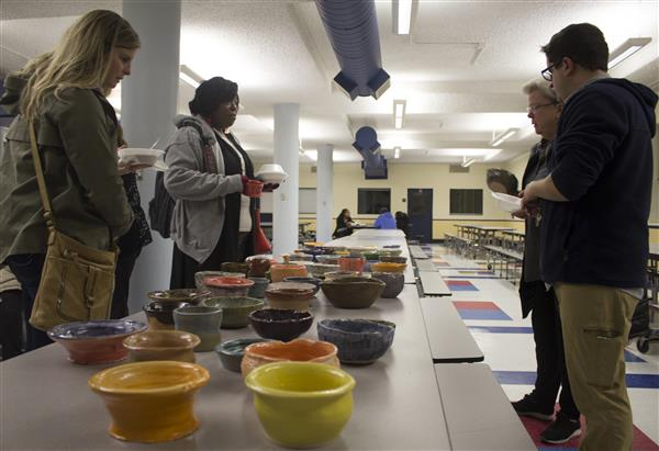 MHS National Art Honor Society hosts Empty Bowls