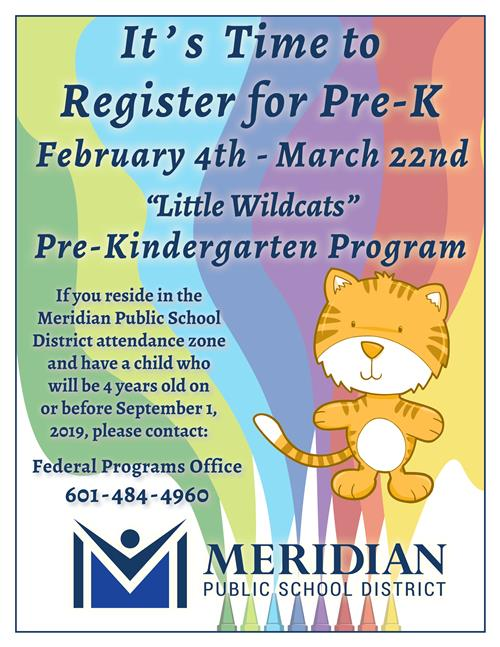 Pre-K registration starts February 4, 2019