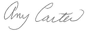 Dr. Carter's Signature